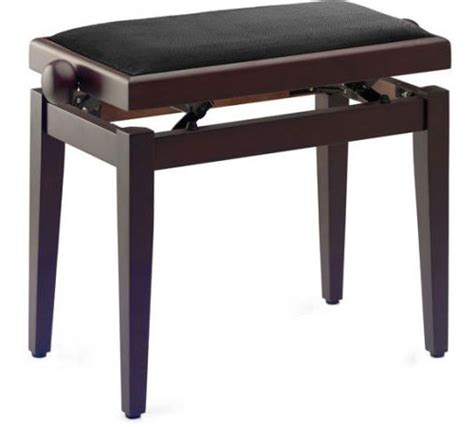stagg piano bench stagg pb40 rosewood piano bench with velours black top
