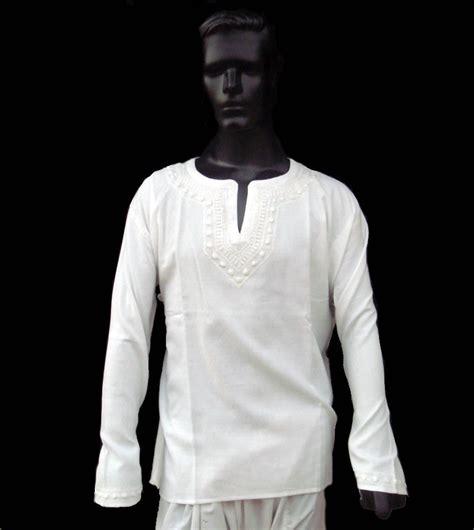Sleeve Kurta Leather white dress mens shirt kurta top tunic indian handemb