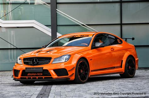 orange mercedes mercedes benz w204 c63 amg black series benztuning