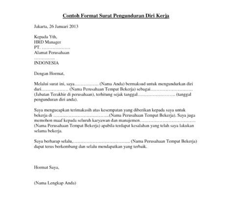 email pengunduran diri contoh surat pengunduran diri kerja untuk kamu yang lelah