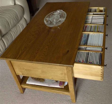 Dvd Storage Coffee Table Lewis Grove Coffee Table With Cd Dvd Storage Drawer Ebay