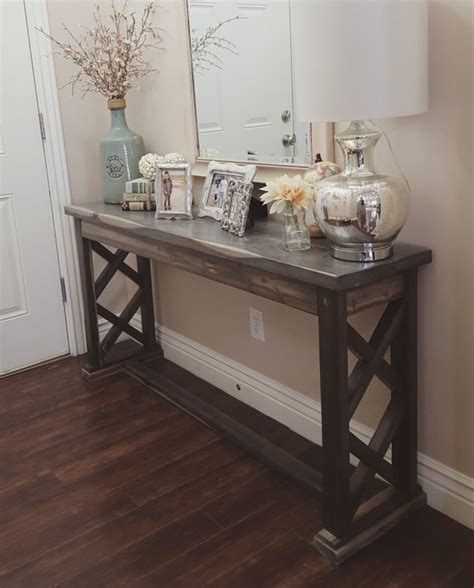 Entry Way Table Decorating rustic farmhouse entryway table sofa table by modernrefinement