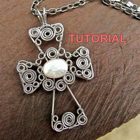 WIRE JEWELRY TUTORIAL Wire Wrapped Cross Pendant