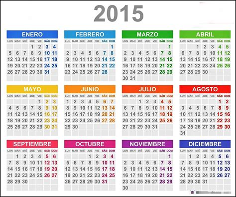 Calendario C Lua 2015 Image Gallery El Calendario 2015