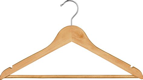 Wooden Hanger image of gourmet home wood hangers set of 10 like
