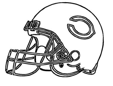 nfl bears coloring pages pictures football helmet chicago bears coloring pages