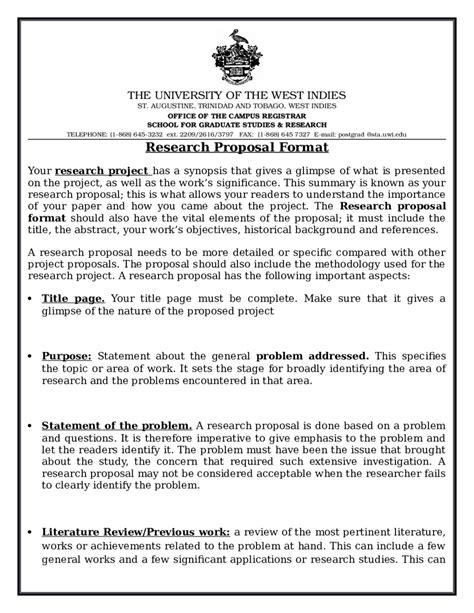 2018 research proposal template fillable printable pdf
