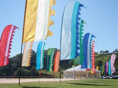 themes hire glastonbury multi coloured avenue of flags props flowers