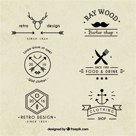 hipster tattoo logo hipster logos collection vector premium download