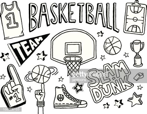 how to play doodle basketball basketball doodles vector getty images