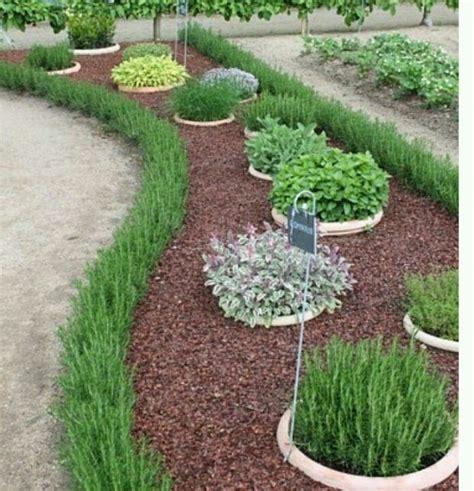 Herb Garden In Sunken Pots Garden Ideas Pinterest Herb Garden Ideas Pots