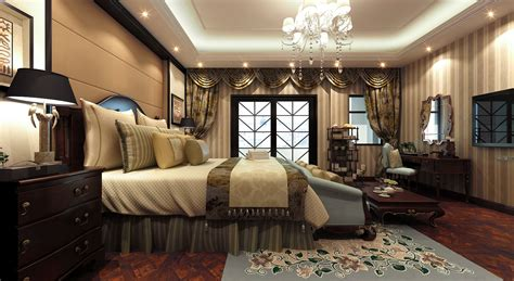 Luxury Bedroom Furniture 3d House Fully Furnished Luxurious Bedroom With Big 3d Model Max