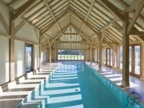 an oak framed garage swimming pool house and barn