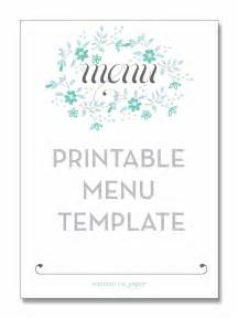Bridal Shower Menu Template by Baby Shower Menu Templates Thebridgesummit Co