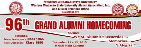 backdrop design for alumni homecoming 96th grand alumni homecoming western mindanao state