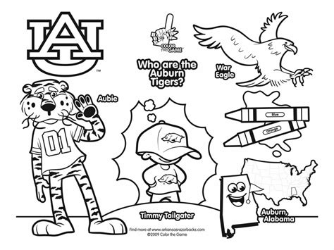 coloring pages college football teams auburn tigers college football coloring pages 01 png 800