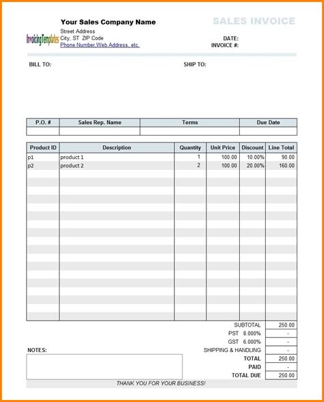 invoice template sles 6 form 8b bill format simple bill
