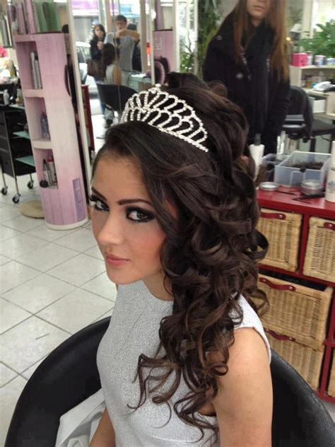 hairstyle images for 16 tiara hairstyle shayna sweet 16 pinterest