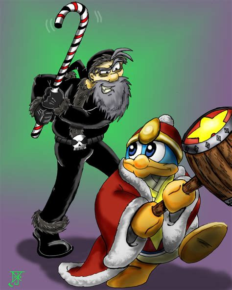 Kaos Mario Bros Mario 03 jtb evil santa vs king dedede by theemeraldninja on