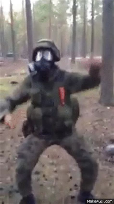 soldier dancing   knife    gif