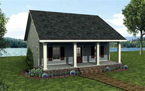 one bedroom 1 5 bath cabin with wrap around porch and cottage style house plans plan 49 189