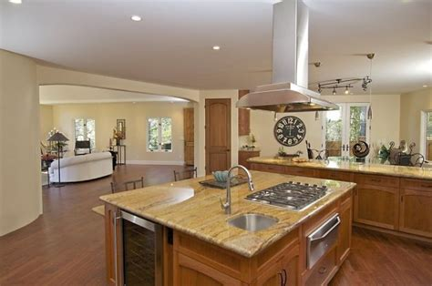 center island with stove top touches of montclair contemporary will awe and