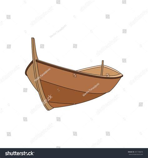 wood boat vector wooden boat stock vector 401748676 shutterstock