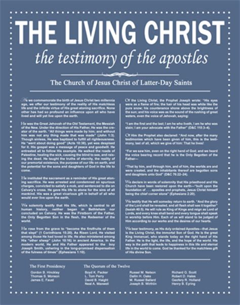 lds the living christ the testimony of the apostles a beam of sunshine the living christ