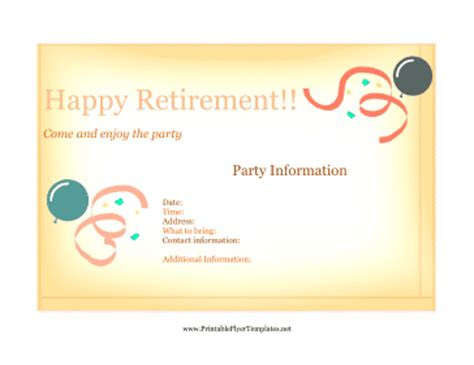 free retirement flyer template flyer for retirement