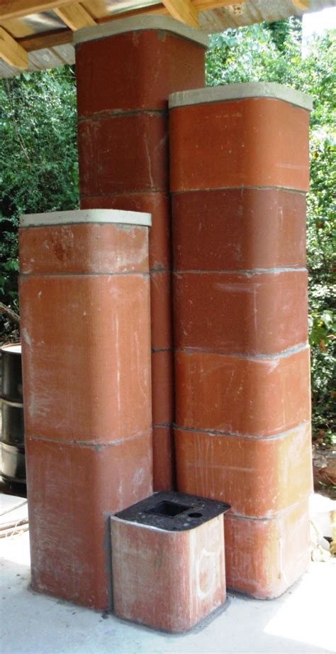 Fireplace Clay Flue Pipe by 6 Burner Masonry Heater Using Chimney Flues Part