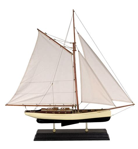 old boat models 1930s classic yacht large wooden model sailboat by
