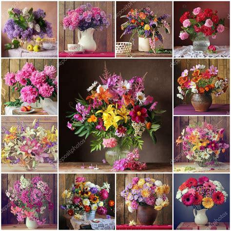 nature morte con fiori collage da nature morte con mazzi di fiori fiori foto