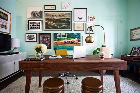 gallery wall home office ideas mid century modern home office home office midcentury with