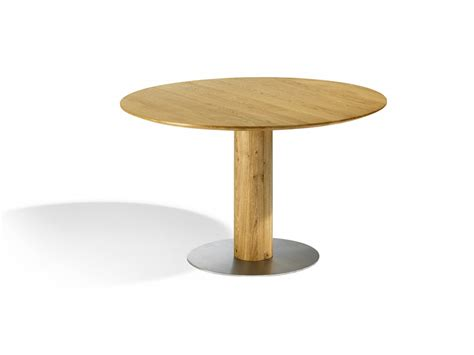 tavolo sala pranzo tavolo per sala da pranzo tondo con base in acciaio inox sala