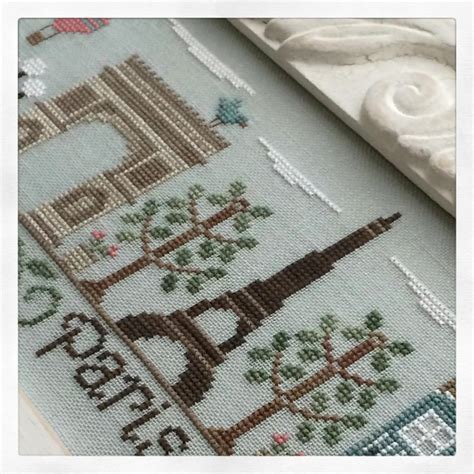 Paris Pattern Works | afternoon in paris cross stitch chart country cottage