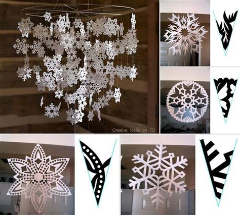 Snowflakes Paper Craft - wonderful diy paper snowflakes with pattern