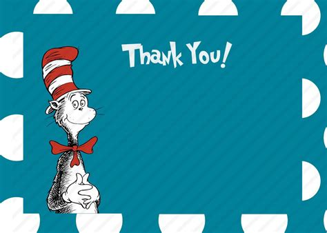 Cat In The Hat Thank You Cards