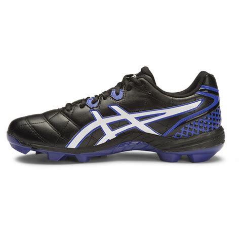 Asics Football Gear asics gel lethal club 8 mens football boots black white blue purple sportitude