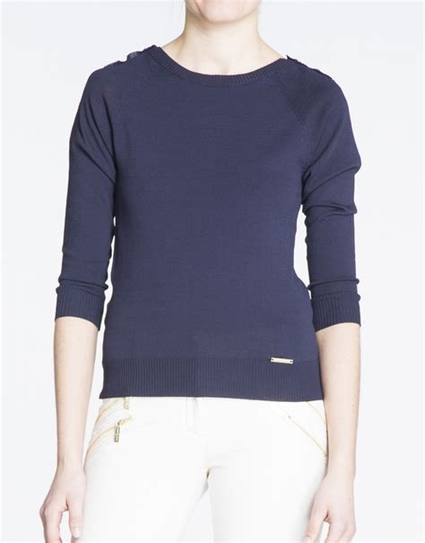 blue boat neck sweater navy blue boat neck sweater with gold buttons