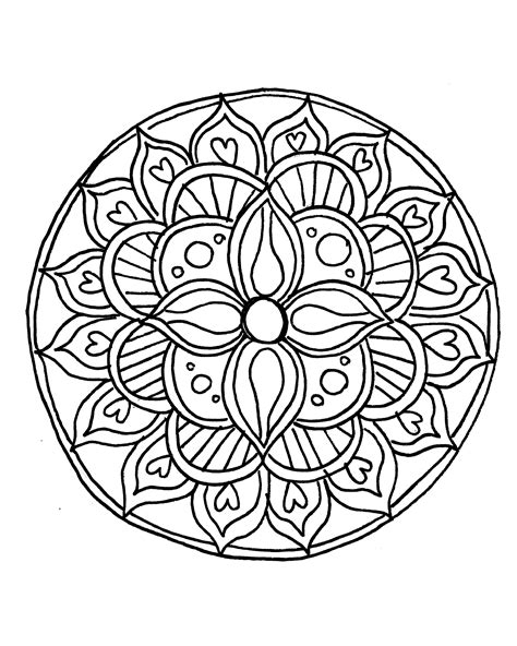 How To Draw A Mandala With Free Coloring Pages Free Simple Coloring Pages