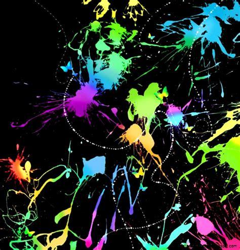 glow in the paint splatter neon paint splatter desktop backgrounds wallpapers gallery