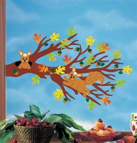 Fensterbilder Weihnachten Basteln Papier Vorlagen by Fensterbild Bastelvorlage Herbstzweig Basteln