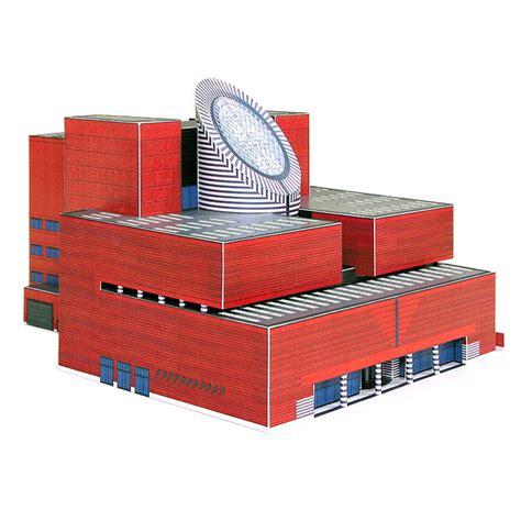 architectural model kits sfmoma building full color architectural paper model kit