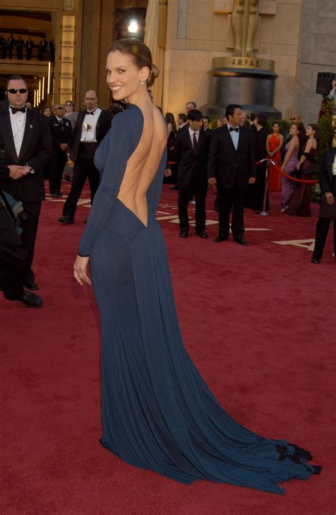 Oscars Carpet Hilary Swank by Hilary Swank At The 2005 Academy Awards 85 Unforgettable