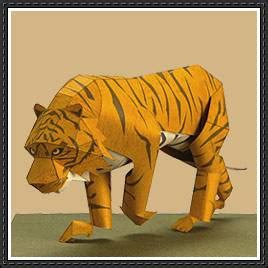 Tiger Papercraft - yamaha animals papercraft tiger free paper model