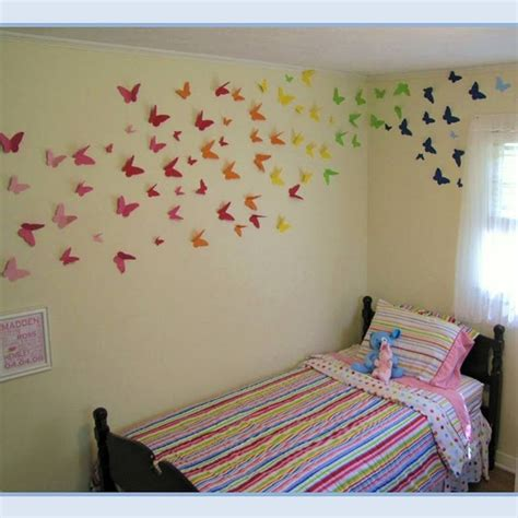 butterfly bedroom decor rainbow butterfly wall bedrooms pinterest butterfly template heavens and rainbow room