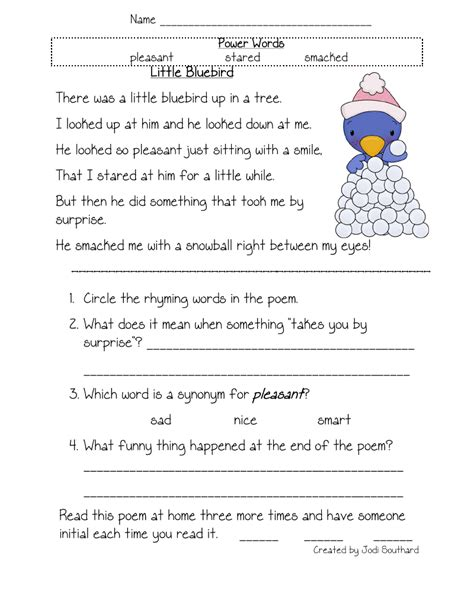 free printable reading worksheets for kindergarten and