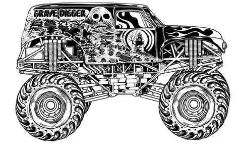 grave digger monster truck coloring pages grave digger monster truck kids coloring pages