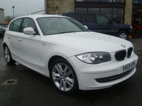 used white bmw 1 series for sale used bmw 1 series 2009 manual diesel 118d sport 5 door