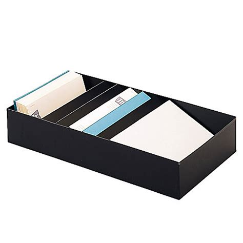 Desk Stationery Organizer Steelmaster Stationery Holders For Desk Drawers Black 4 Compartments By Office Depot Officemax